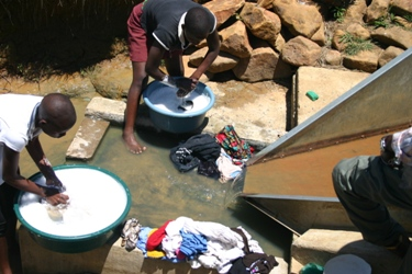 Multiple use flow monitoring weir - Thukela HELP catchment South Africa