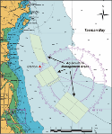 Map of buoy location