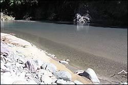 Fine sediment at Motueka Gorge from Easter 2005 flood